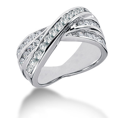 Platinum Round Diamond Ladies Ring 1.19ct Main Image