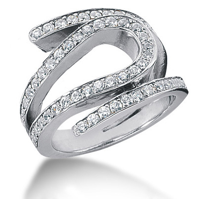 Platinum Round Diamond Ladies Ring 1.20ct Main Image