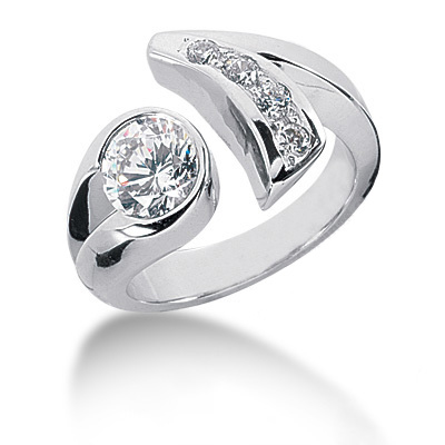 Platinum Round Diamond Ladies Ring 1.20ct Platinum Round Diamond Ladies Ring 1.20ct