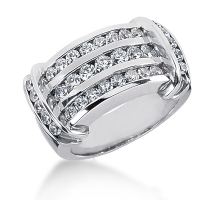 Platinum Round Diamond Ladies Ring 1.21ct Main Image