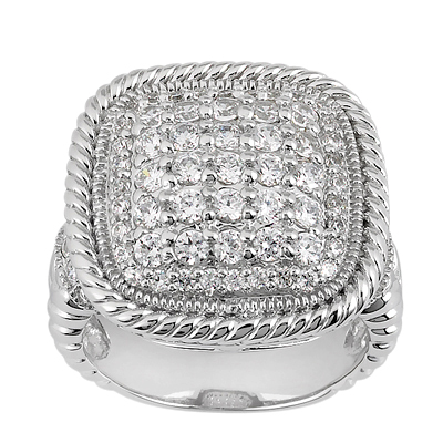 Platinum Round Diamond Ladies Ring 1.22ct Main Image