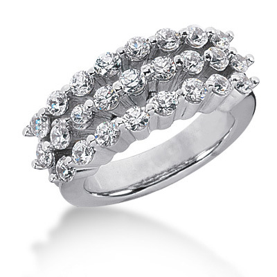 Platinum Round Diamond Ladies Ring 1.25ct Main Image