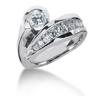 Platinum Round Diamond Ladies Ring 1.26ct Platinum Round Diamond Ladies Ring 1.26ct