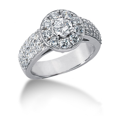 Platinum Round Diamond Ladies Ring 1.27ct Main Image