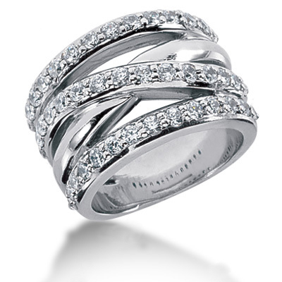 Platinum Round Diamond Ladies Ring 1.29ct Main Image