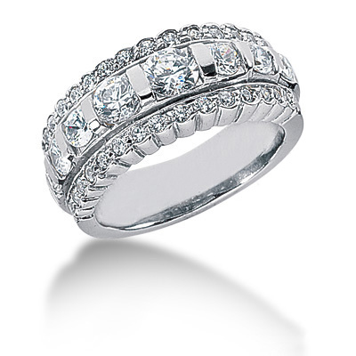 Platinum Round Diamond Ladies Ring 1.61ct Platinum Round Diamond Ladies Ring 1.61ct