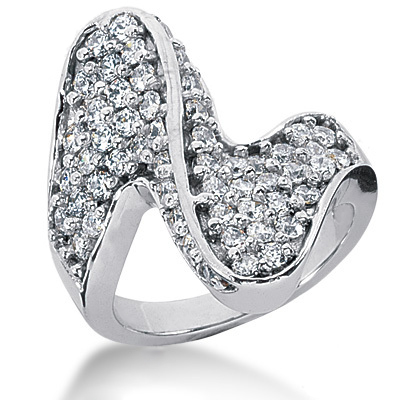 Platinum Round Diamond Ladies Ring 1.62ct Main Image