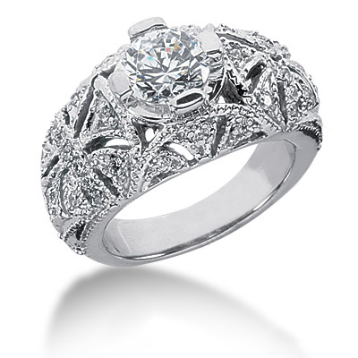 Platinum Round Diamond Ladies Ring 1.67ct Platinum Round Diamond Ladies Ring 1.67ct
