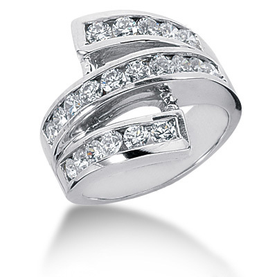 Platinum Round Diamond Ladies Ring 1.68ct Main Image