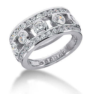 Platinum Round Diamond Ladies Ring 1.72ct Main Image
