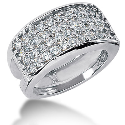 Platinum Round Diamond Ladies Ring 1.76ct Main Image