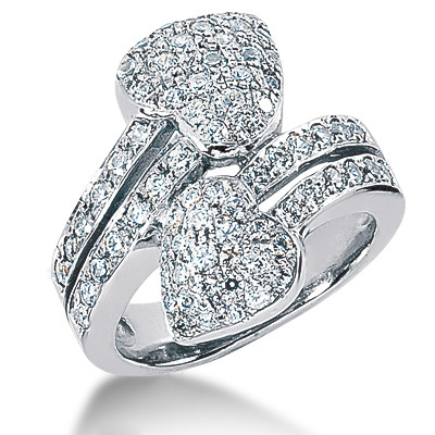 Platinum Round Diamond Ladies Ring 1.83ct Main Image