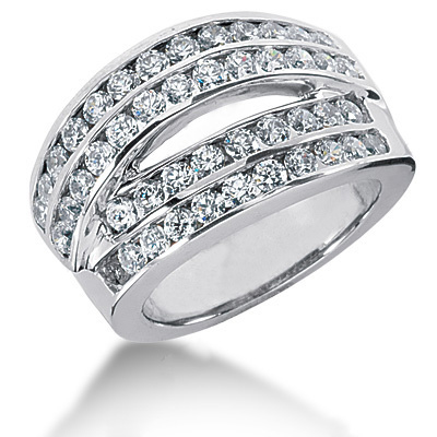 Platinum Round Diamond Ladies Ring 1.84ct Main Image
