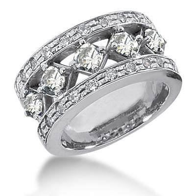 Platinum Round Diamond Ladies Ring 1.85ct Platinum Round Diamond Ladies Ring 1.85ct