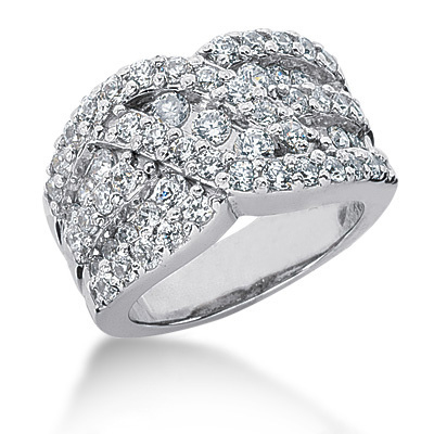 Platinum Round Diamond Ladies Ring 1.87ct Main Image