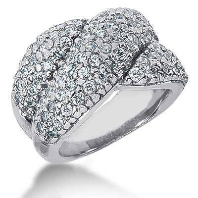 Platinum Round Diamond Ladies Ring 1.90ct Main Image