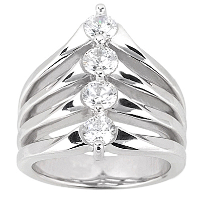 Platinum Round Diamond Ladies Ring 1ct Platinum Round Diamond Ladies Ring 1ct