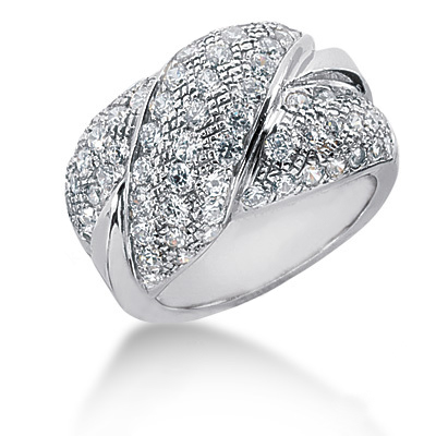 Platinum Round Diamond Ladies Ring 2.07ct Main Image