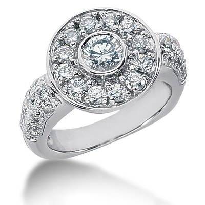 Platinum Round Diamond Ladies Ring 2.22ct Platinum Round Diamond Ladies Ring 2.22ct