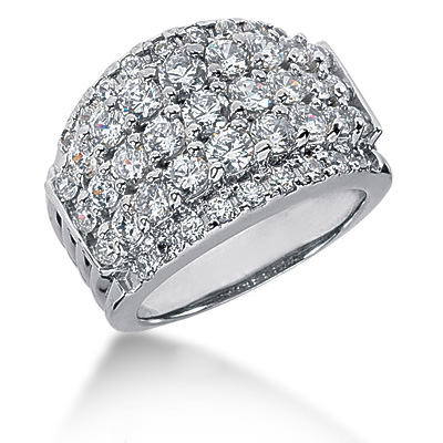 Platinum Round Diamond Ladies Ring 2.25ct