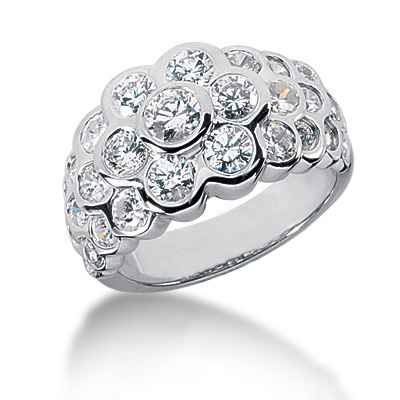 Platinum Round Diamond Ladies Ring 2.29ct Platinum Round Diamond Ladies Ring 2.29ct