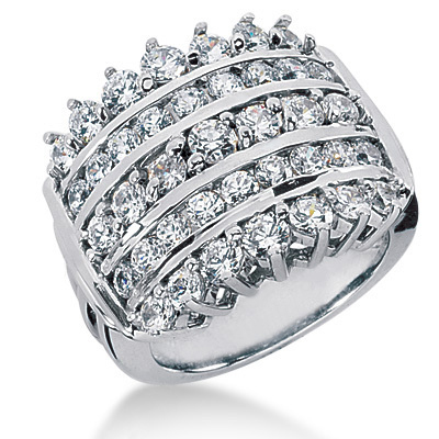 Platinum Round Diamond Ladies Ring 2.34ct Main Image