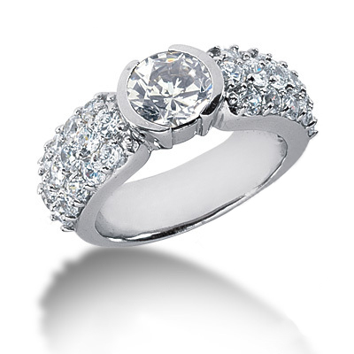 Platinum Round Diamond Ladies Ring 2.40ct Platinum Round Diamond Ladies Ring 2.40ct