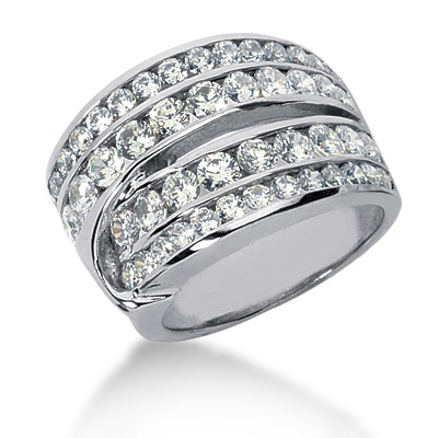 Platinum Round Diamond Ladies Ring 2.40ct Main Image