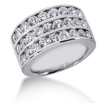Platinum Round Diamond Ladies Ring 2.43ct Main Image