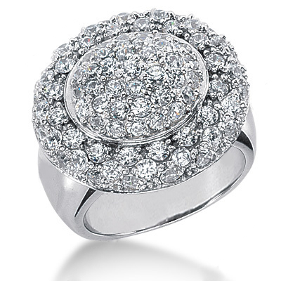 Platinum Round Diamond Ladies Ring 2.52ct Main Image