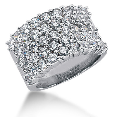 Platinum Round Diamond Ladies Ring 2.58ct Main Image