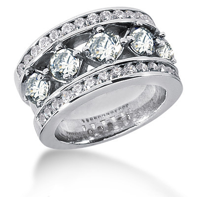 Platinum Round Diamond Ladies Ring 2.65ct Platinum Round Diamond Ladies Ring 2.65ct