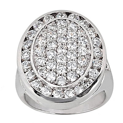 Platinum Round Diamond Ladies Ring 3.08ct Main Image