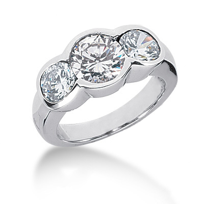 Platinum Round Diamond Ladies Ring 3ct Platinum Round Diamond Ladies Ring 3ct