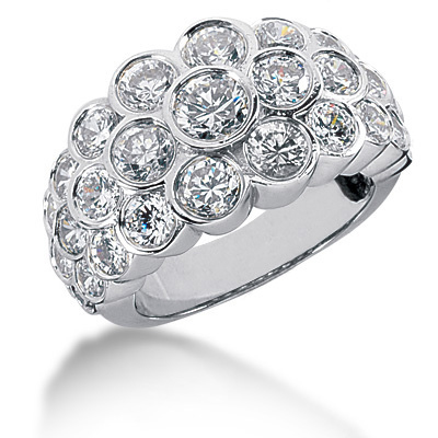 Platinum Round Diamond Ladies Ring 4.23ct Platinum Round Diamond Ladies Ring 4.23ct