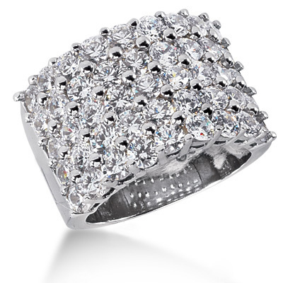 Platinum Round Diamond Ladies Ring 4.50ct