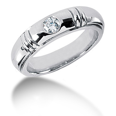 Platinum Round Diamond Men's Wedding Band 0.40ct Platinum Round Diamond Men's Wedding Band 0.40ct