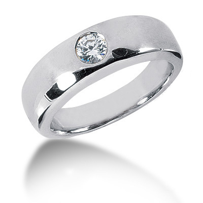Platinum Round Diamond Men's Wedding Ring 0.30ct Platinum Round Diamond Men's Wedding Ring 0.30ct