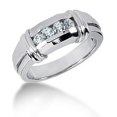 Platinum Round Diamond Men's Wedding Ring 0.40ct Platinum Round Diamond Men's Wedding Ring 0.40ct
