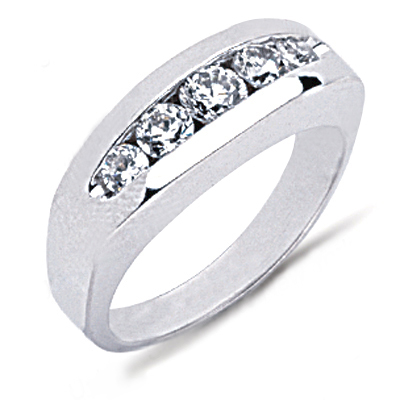 Platinum Round Diamond Men's Wedding Ring 0.77ct Platinum Round Diamond Men's Wedding Ring 0.77ct