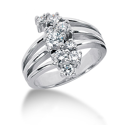 Platinum Round Diamond Right Hand Ladies Ring 0.65ct Platinum Round Diamond Right Hand Ladies Ring 0.65ct
