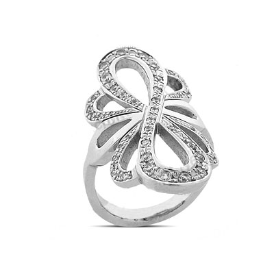 Platinum Round Diamond Right Hand Ladies Ring 0.66ct Main Image