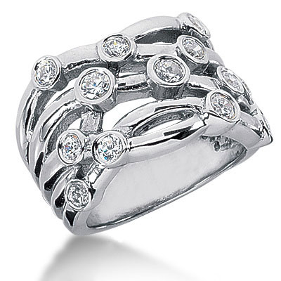 Platinum Round Diamond Right Hand Ladies Ring 1ct Main Image