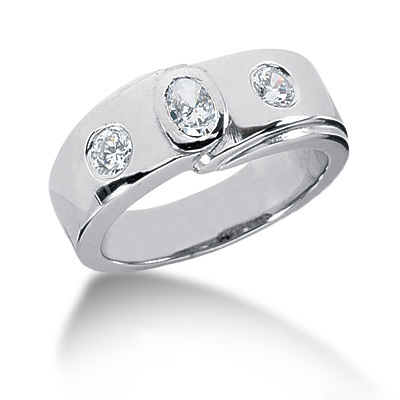 Platinum Women's Diamond Ring 0.55ct