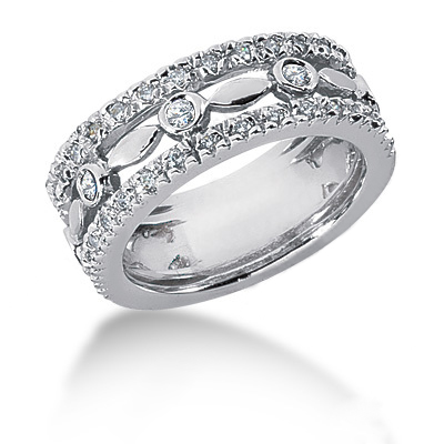 Platinum Women's Diamond Ring 0.63ct Main Image