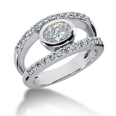 Platinum Women's Diamond Ring 1.02ct Main Image