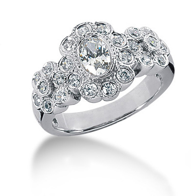 Platinum Women's Diamond Ring 1.10ct Main Image