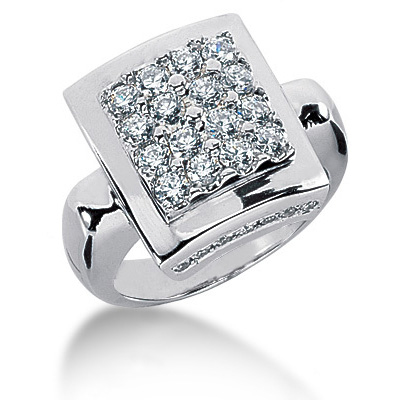 Platinum Women's Diamond Ring 1.24ct Main Image
