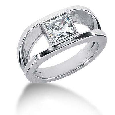 Platinum Women's Diamond Ring 1.25ct