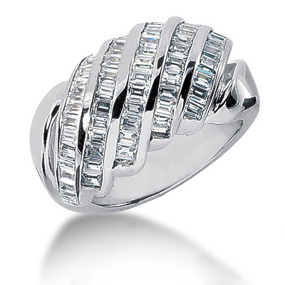 Platinum Women's Diamond Ring 1.40ct Main Image